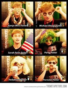 Daniel Radcliffe tries different costumes…this is great