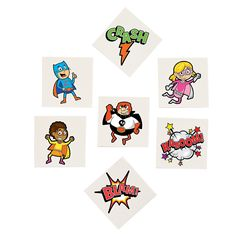 12 PC Comic Book Super Hero Glider Party Favors Assorted Characters