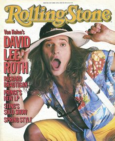 3437074c038 David Lee Roth - Rolling Stone (1985 Apr) Rolling Stone Magazine Cover