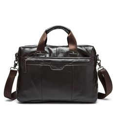 6bc165e9341d Genuine Leather Stylish Briefcase For Men Leather Laptop Bag