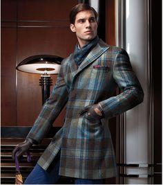 Paul Stuart -- Wool Plaid Fitzgerald Coat
