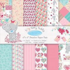 """Looks What's In at Yourscrapbooksupply.com - Trimcraft Santoro Tiny Tatty Teddy Paper Pack 6""""X6"""" 48/Pkg Girl - New!, $6.79 (http://www.yourscrapbooksupply.com/trimcraft-santoro-tiny-tatty-teddy-paper-pack-6x6-48-pkg-girl-new/)"""
