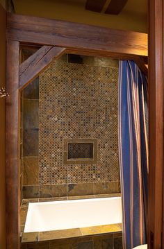 Small Bathroom Ideas Design, Pictures, Remodel, Decor and Ideas - page 4 @Sarah Lewis Snowder (This is exactly what we'd do in the hall bath for the load bearing wall.)