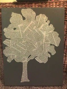 this looks super easy to make... tree made from cut out pages in books