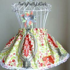 Ready to Ship   Toddler Skirt Girls Skirt  by PrettyPrettyLilGirls, $12.99