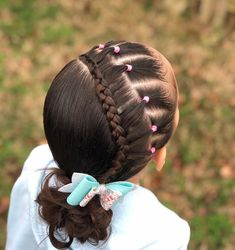 Box-Braided Bun - Braids with Beads: Hairstyles for a Beautiful and Authentic Look - The Trending Hairstyle Girls Natural Hairstyles, Baby Girl Hairstyles, Girl Haircuts, Braided Hairstyles, Cool Hairstyles, Natural Hair Styles, Toddler Hairstyles, Hairdos, Cornrows With Beads