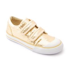 Gold Sequin Girls Shoes