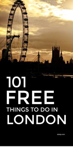 101 brilliant free things to do in London. Written by a Londoner this bucket list covers the top fun places to visit on a budget all year round - spring, summer & winter - including quirky unusual places that are non touristy and cool things to do with kids and alone. #visitlondon #londonguide #thingstodoinlondon #london #londonbucketlist #freelondon #cheaplondon Cheap Things To Do, Things To Do Alone, Free Things To Do, Stuff To Do, Days Out In London, London With Kids, Things To Do In London, London Tips, London Guide