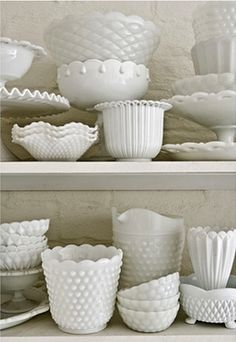 milk glass is my obsession.