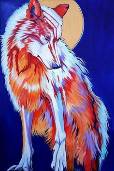 """""""Pale Moon Rising"""" by Rose Collins Acrylic ~ 36 x 24"""