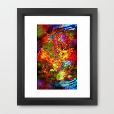 Modern Abstract ART The Eye Of Craziness by Donika Nikova - ShaynART Framed Art Print by Donika Nikova - $40.00  www.shaynart.com  #print #abstract #art #shaynart #painting #crazy #multicolor #design #mug #cup #bag #bright #pillow #iPhone #case #accessories #fineart #laptop #phone #fashion #shopping