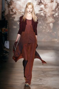 Sally LaPointe-FW12-15 by futureclaw, via Flickr  little sweater over flowing top