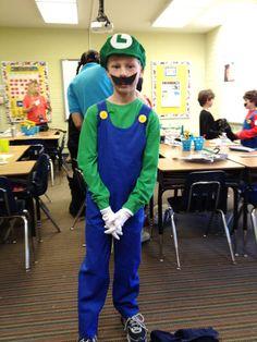 Make a Luigi Mario Brothers Halloween costume