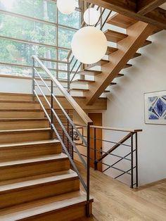 Mesmerizing modern custom home in British Columbia House Stairs British Columbia Custom home Mesmerizing Modern Modern Stair Railing, Stair Railing Design, Home Stairs Design, Staircase Railings, Modern Stairs, Interior Stairs, Stairways, House Design, Staircase Ideas