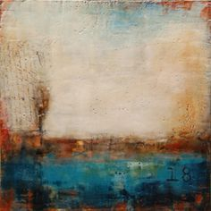 Sparrow song - encaustic painting by Laura Culic