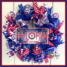 Hey, I found this really awesome Etsy listing at https://www.etsy.com/listing/213842609/texasrangerssportsdeco-meshwreathfan