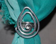 Medium sized heart scarf ring by SweetDaddysJewelry on Etsy