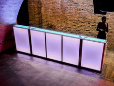 8u0027 Serpentine Plexiglass Bar | I Do | Pinterest | Red Led Lights And Event  Management