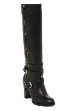 6c1cd106f4a2 Rebecca Minkoff Black  on Hold  New Billie Knee High Heeled Leather 6 1 2  Boots Booties Size US 6.5 Regular (M