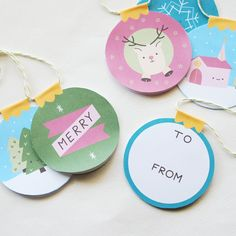 free printable ornament gift tags // wild olive