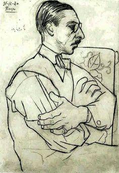 Pablo Picasso「Stravinsky」