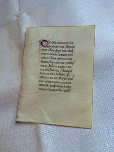 Fifteenth Century Illuminated Manuscript Leaf on by oldfangledcool