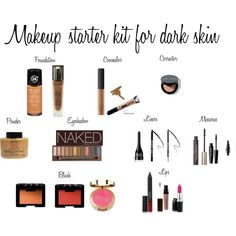The best makeup for dark skin  Makeup starter kit for dark skin by novo32 on Polyvore featuring beauty, Urban Decay, Lancôme, NARS Cosmetics, MAKE UP FOR EVER, Laura Mercier, Revlon, Bobbi Brown Cosmetics and L'Oréal Paris