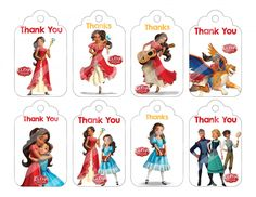 Elena of Avalor Thank You Tags, Printable Party Supplies,  DIY | BeautifulDigitals -  on ArtFire