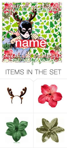 """""""open icon ;; christmas batgirl"""" by wxnter-creations ❤ liked on Polyvore featuring art"""