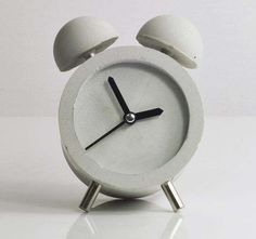 DIY Concrete Clocks - This Blogger Makes a Desktop Clock Out of Cement (GALLERY)