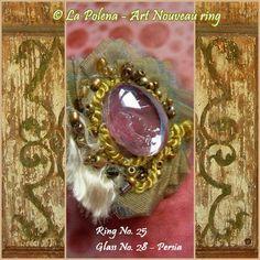 ART NOUVEAU effetti speciali vetro anello n. 25 di La di LaPolena