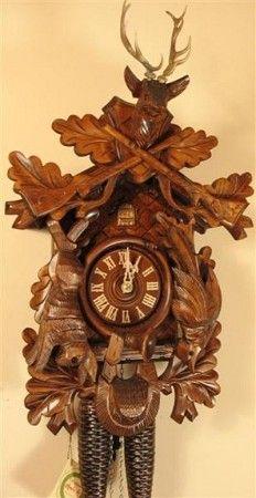"Cuckoo Clock Pendulum 1 1//2/"" Wide Oak Leaf Style NEW Brown German Made 7 1//2/"""