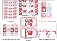 Carnival Birthday Party Printable Decorations