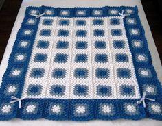baby boy granny square crochet blanket - Google Search