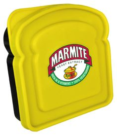 Marmite Sandwich Box  #TSVDAYCOMP Sandwich Box, Sandwiches, Yeast Extract, Marmite, Marketing Materials, Vintage Advertisements, Lunch Box, Food And Drink, Drinks