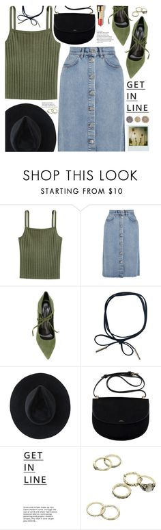 """""""get in line"""" by valentino-lover ❤ liked on Polyvore featuring M.i.h Jeans, Casadei, Ryan Roche, Lipsy, Polaroid and Bobbi Brown Cosmetics"""