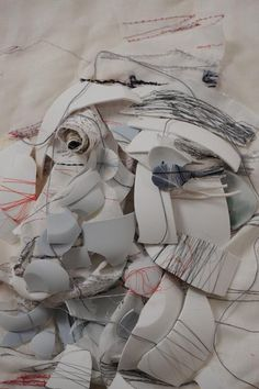 Alice Kettle - embroidery on mixed media