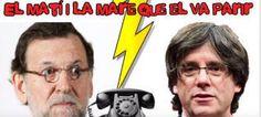 Rajoy cae en una broma con un falso Carles Puigdemont