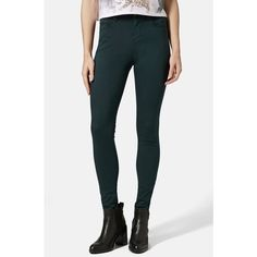 Topshop Moto 'Leigh' High Rise Skinny Jeans ($65) ❤ liked on Polyvore