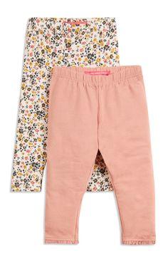 Primark - 2 Pack Pink Floral Leggings