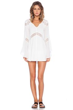 2d8d6d6269 Women s Lace Full Sleeve White Swim Cover Up Tunic - Lalalilo.com Shopping  - The