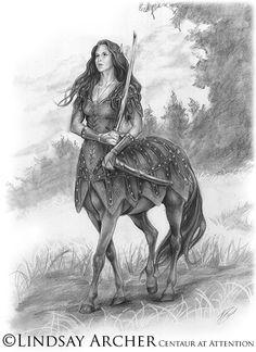 Centaur at Attention by LinzArcher on DeviantArt