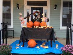 Baxter Skeletons - when pumpkin carving goes wrong