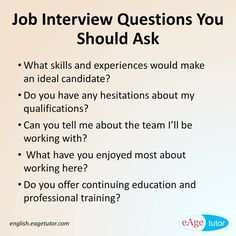 Awesome Asking The Right Questions At An Interview Is Very Much Important As It  Gives You An