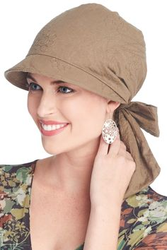 Krista Visor Scarf | Brimmed Head Wrap for Women #chemohat #cancerhat #HatsForWomenSewing