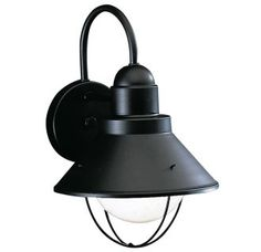 "View the Kichler 9022 Seaside Single Light 12"" Tall Outdoor Wall Sconce at LightingDirect.com."