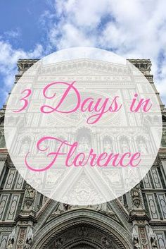 3 Days in Florence - where to go, what (and when) to see it - including a 1-page printabel itinerary for your trip, hotel recommendations and, most importantly - where to eat.