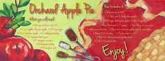 Orchard Apple Pie by Anna  Johnson - They Draw & Cook