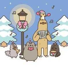 =^● ⋏ ● ^= Pusheen the cat - Merry Christmas Carols meow~~~ Gato Pusheen, Pusheen Love, Pusheen Christmas, Christmas Cats, Christmas Music, Merry Christmas, Christmas Christmas, Pusheen Stormy, Kawaii 365