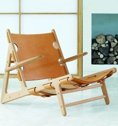 Deck #chair with armrests THE HUNTING CHAIR by FREDERICIA FURNITURE | #design Børge Mogensen
